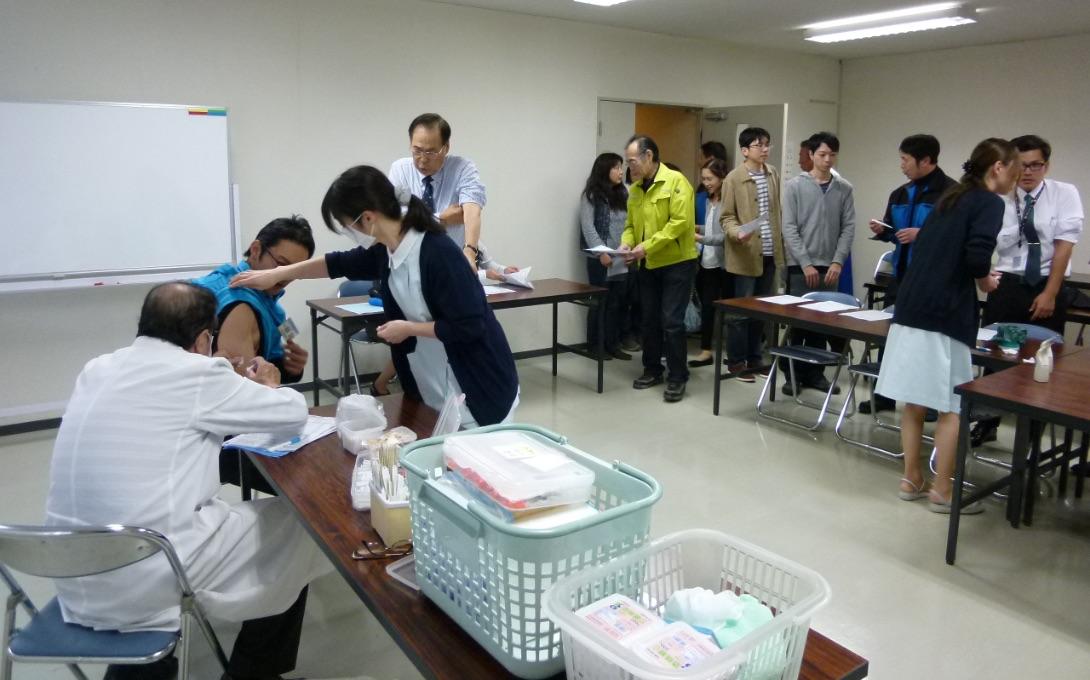 ビー・アイ運送の取り組み インフルエンザ予防接種
